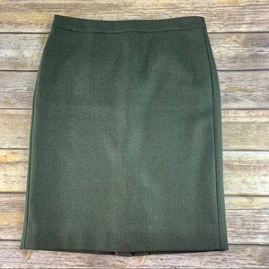 J Crew No. 2 Pencil Skirt In Double serge Wool 10
